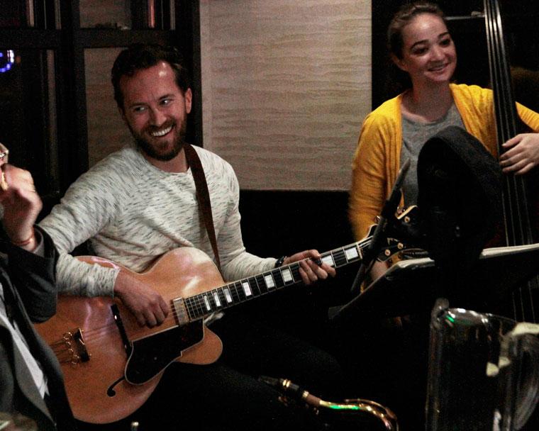 Sean Longstreet (center) and his trio played at Ferro last week. Photo by John Drake