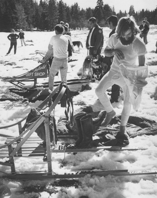Snow sledding races occurred in the Mt. San Jacinto State Park Wilderness in February 1974.File photo