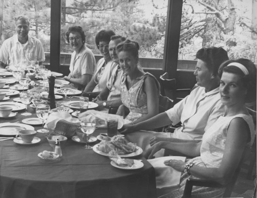 Teachers and their friends dine at the Tirol Restaurant in Pine Cove in the 1960s. The Tirol, built in 1962, closed in 1966. It was a $400,000 restaurant that drew celebrities from all over the world.File photo