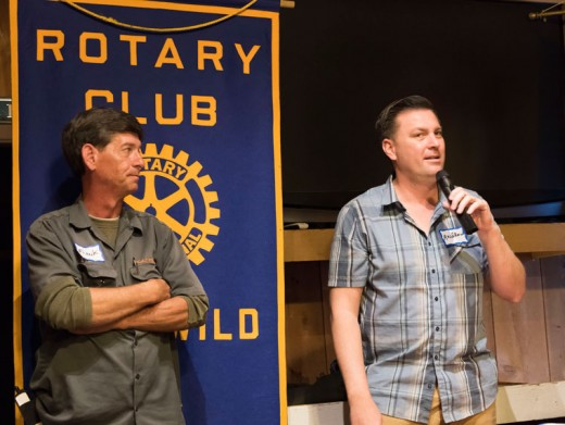 Andrew Kotyuk (left) and Frank Jakubac from SoCal Propane, LLC, addressed the meeting of the Idyllwild Rotary Club last week. Photo by Tom Kluzak