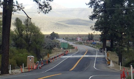The Hurkey Creek Bridge is now open. The $2.5-million project widened and lengthened the bridge to be more compatible with larger and higher-speed vehicles. The bridge was originally built in the 1930s and was the narrowest part of Highway 74 before the rebuild. Photo by Halie Wilson