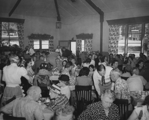 A celebration of the dedication of Highway 243, the Banning-Idyllwild Highway, was held in 1951 at the old Idyllwild Inn.File photo