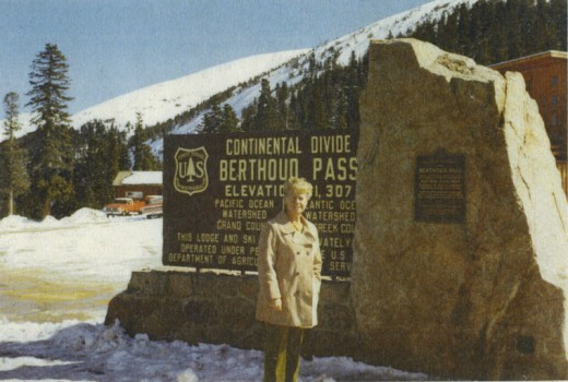 Long-time Idyllwild resident Eleanor S. Johnson (now deceased) in the early 1970s at Berthoud Pass, Colorado. Photo courtesy Tom L. Adamson (grandson) and Jennifer Adamson