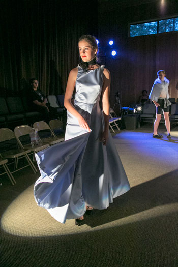The Idyllwild Arts Fashion Show had three showings Saturday night in order to accommodate all who wanted to see the students' fashion design skills. This show was held in Stephens Recital Hall, but is in different buildings throughout the school year.Photo by Jenny Kirchner