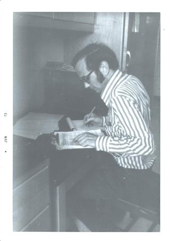 John Laundré as a young scientist. Photo courtesy Dr. John Laundré