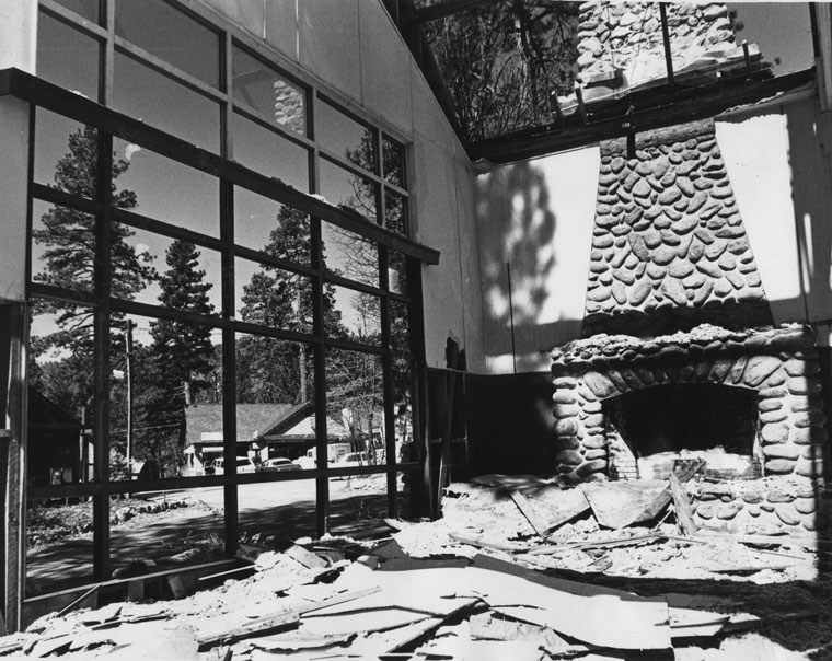 The demolition of the Idyllwild Inn is shown in this Feb. 21, 1976, photo. File photo, Norman P. Roe