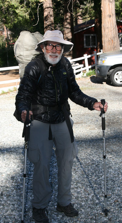 """Turtle Don"" Davis, 82, of Merced, is seen here just before setting out on the next leg of his PCT thru-hike. If Davis completes the 2,650-mile trek, he will likely be the oldest hiker to do so.`Photo by Marshall Smith"