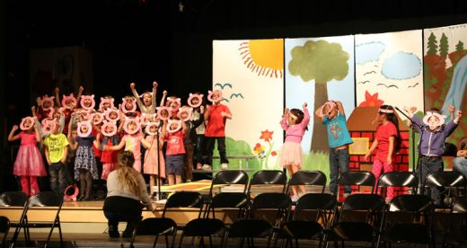 "Kindergarten students at Idyllwild School performed the ""Three Piggy Opera"" Friday. Photo by Cheryl Basye"