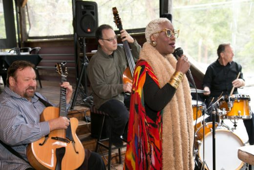 Rose Mallet and The Bill Saitta Quartet performed at Café Aroma Saturday afternoon, keeping the customers entertained with their jazz tones.  Photo by Jenny Kirchner