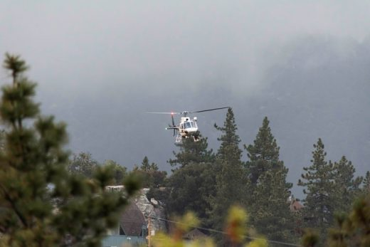 Tuesday evening, April 26, at about 7 p.m., a Riverside County Sheriff Department's helicopter was in the sky south of Highway 243. It hovered in the same area for quite a while.Photo by Tom Kluzak
