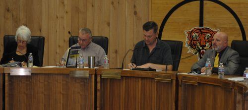 Members of the Idyllwild San Jacinto Regioinal Fire Authority at their first meeting. (From left), Rhonda Andrewson, Jerry Buchanan, vice chair, Andrew Kotyuk, chair, and Scott Miller. Andrewson and Buchanan are on the Idyllwild Fire Commission and Kotyuk and Miller on the San Jacinto City Council.