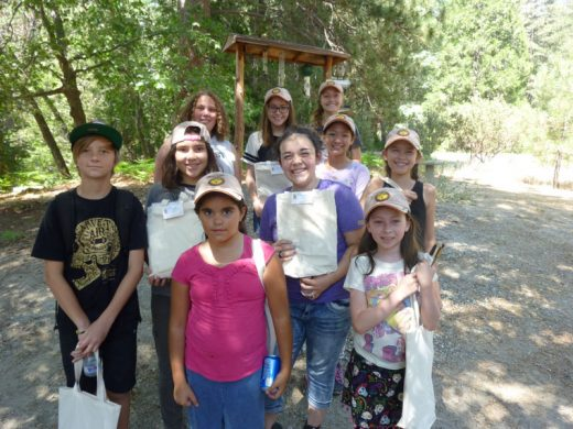 Local youths attended last Saturday's Science of Art workshop at the James Reserve thanks to funding by the Art Alliance of Idyllwild. Jack Farley's Art Supplies gave each student a gift bag. Photo by Shanna Robb