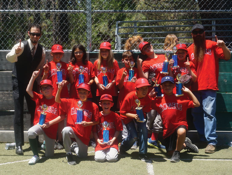 The Angels won the Majors Division of the Town Hall Youth Baseball League Saturday.Photo by Chandra Lynn