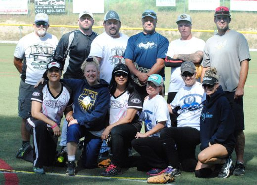 LPS was the runner up in the 8th Annual Jimmy Campbell Softball Tournament. Here are the team members, (kneeling from left) Irene Holland, Renee Smith, April Burt, Tiffany Pool, George Castmell, and Korri Mathews. Standing in the back (from left) are Billy (T) Tobias, Mike Morris, Brian Stockfish, Josh Medeiros, Chris Juhl, and Rory Pool.Photos by J P Crumrine