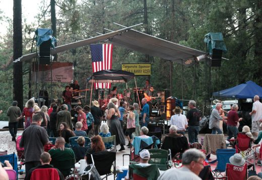 Grupo Bohemio keeps the crowd on their feet during last year's summer concert.File photo