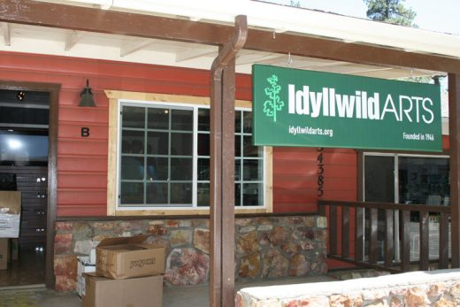 Idyllwild Arts has a new in-town location. The shop is part of an effort by IA administration to broaden outreach to the town. It is scheduled to open this week. Photos by Marshall Smith