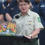 Shawna Legarza speaks about leading Forest Service firefighters