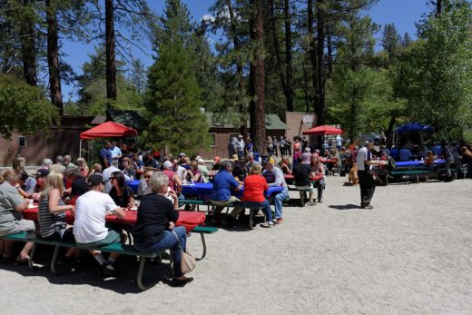 The Idyllwild Rotary Club hosted their annual ApfelPfannküchen Pancake Breakfast on Sunday, May 29 at the Town Hall. More than 400 people had a delicious meal of apple pancakes, ham and eggs served up by Rotary volunteers with proceeds going to support the numerous projects funded by the Rotary, all of which benefit the Idyllwild community. Photo by Tom Kluzak