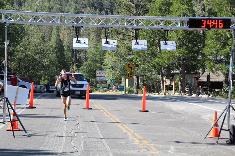 Jayden Emerson of Idyllwild won the 10K Run with a time of 34:47.36. Emerson was the 2015 winner with a record time then of 35:19, which he beat by more than 30 seconds this year.Photo by Jessica Priefer
