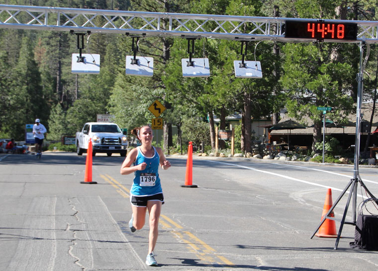 Stephanie Maldonado, in the 30-34 age group, was the top female runner in the 10K race, finishing in 44:47.4. Photo by Jessica Priefer