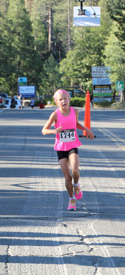 Megan Crum of Lake Elsinore was the first female finisher in the 5K run. Her time was 20:24, more than 2 minutes faster than the second female racer. Photo by Jessica Priefer