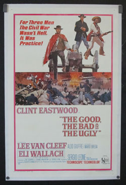"""An original 1968 poster from """"The Good, the Bad and the Ugly"""" (United Artists) directed by Sergio Leone and one of the archetypal """"Spaghetti Westerns,"""" part of Kevin Nett's collection of movie memorabilia. Photo courtesy Kevin Nett"""