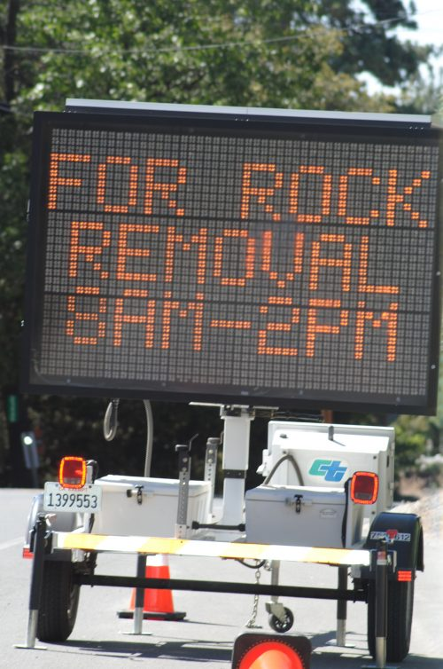 For Rock Removal 8 AM - 2 PM