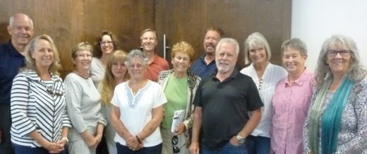 The Art Alliance of Idyllwild and the Associates of Idyllwild Arts Foundation have formed a committee to collaborate. Committee members (from left, back row) are Patrick Barry, Shanna Robb, Dave Robb and Michael Slocum; (from left, front row) Kathy Halkin, Diana Kurr, Barbara Kinoshita, Annamarie Padula, Jorgine Brause, Byron Ely, Erin O'Neill, Linda Anderson and Karen Johnston. Not shown is Peter Szabadi. Photo by John Drake