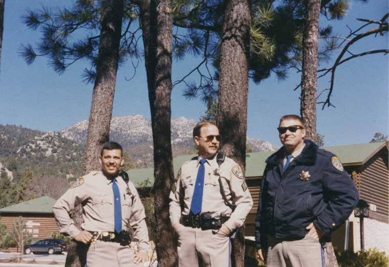 Ron Esparza (on left) when he began serving as resident deputy in 1999. 	Photo courtesy Ron Esparza