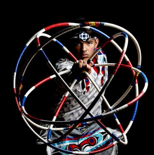 Native American hoop dancer Terry Goedel, five time world champion, dances to conclude the Native American Arts Festival at Idyllwild Arts at 7 p.m. on Friday July 8 on Cargill Commons on the Idyllwild Arts campus with his son Michael (shown). Photo courtesy of Idyllwild Arts