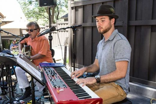 Jac Jacaruso, guitar, and son Luca on keyboard entertained diners at Ferro on the Fourth of July.Photo by Peter Szabadi