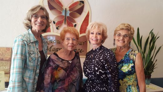 Center for Spiritual Living ministers (from left) are Rev. Helen Henderson, Rev. Dr. Betty Jandl, Rev. Patty Spicer and Rev. Sheila Weldon. Photo by Larry Fina