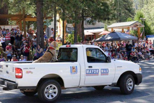 Mayor Max ensures the spectators enjoyed the 2016 Fourth of July Parade.Photo by Tom Kluzak
