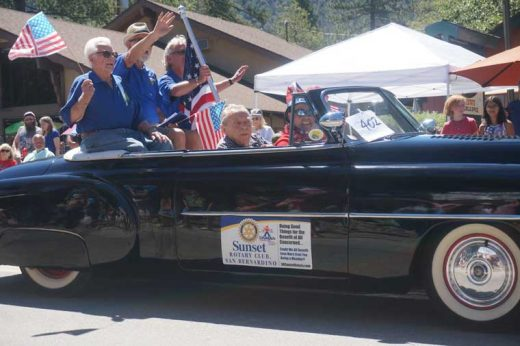Grand marshals of the 2016 Idyllwild Rotary Parade are Earl Parker, Craig Coopersmith, Bob Lippert and Barney Brause, longtime members of the club. Photo by Chandra Levy