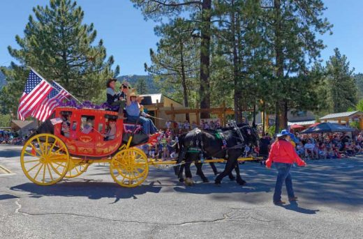 The Butterfield Stagecoach arrives at Village Center Drive.Photo by Tom Kluzak