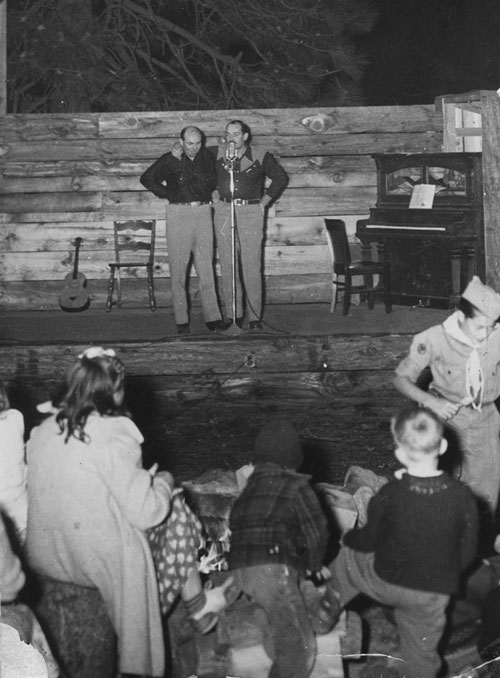The Kretsinger boys — Charles and Gene — on the campfire stage in 1948.File photo