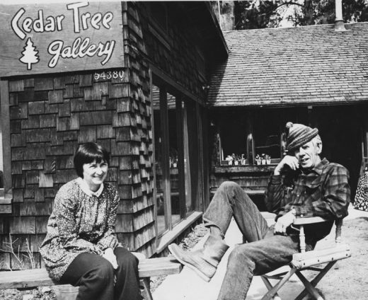 Relaxing got top billing at the Cedar Tree Gallery in March 1974 as owners Elizabeth Paine and Ernie Maxwell demonstrated.File photo
