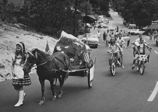 Small-town America was very much alive in Idyllwild in 1972 where children took part in the annual Fourth of July Parade. File photo