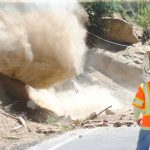 Caltrans drops two boulders on Highway 243