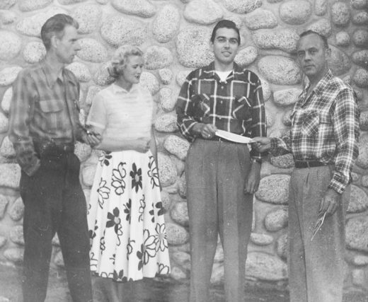 Ernie Maxwell (left) was part of those who founded the first conservation group at ISOMATA (now Idyllwild Arts) in 1952. File photo