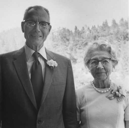 Courtly Corbin Devalon and his gracious Helen celebrated their 50th wedding anniversary by inviting practically all of Idyllwild to their Rockdale Drive home in June 1973. The party featured both a bride's and a groom's cake.       File photo