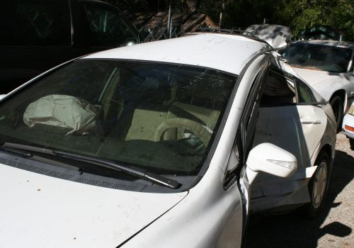 The car that Jennifer Rivera, of Pine Cove, was driving, was towed to Idyllwild Garage this morning.