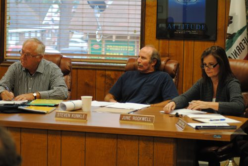 The three current members of the Idyllwild Water District Board of Directors are (from left) John Cook, Steve Kunkle, and June Rockwell. Former President Jim Billman and Mike Freitas resigned this month.