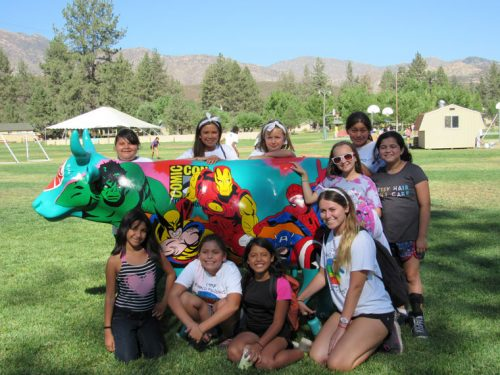 Camp Ronald McDonald for Good Times campers and counselors with the popular Comic-Con cow, popular with campers because it elevates courage, strength and hope.Photo courtesy of Brian Crater