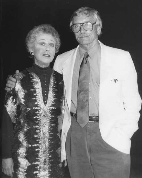"""Dr. Jenny Egan, former New York resident and now an Idyllwild local, is seen here with Edward Albee, one of America's greatest playwrights. Albee is the author of """"Who's Afraid of Virginia Woolf?"""" and """"The Zoo Story,"""" to name two of his many honored works. Photo courtesy Dr. Jenny Egan"""