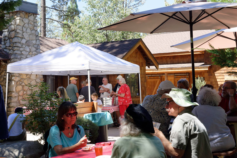 Volunteers with the Idyllwild Area Historical Society hosted an ice cream social on the museum grounds on Saturday, Sept. 3, introducing guests to the interesting and important work performed by the society. Photo by Tom Kluzak
