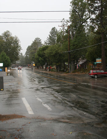Just when you thought you might never see it again, rain came to the Hill. Pictured is upper Fern Valley with a brief heavy downpour early Tuesday morning, and then resuming later in the morning as a constant gentle rain. Photo by Marshall Smith