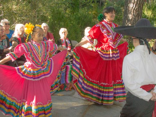 Dancers from Ballet Folklorico of St. Hyacinth's Academy in San Jacinto performed in traditional attire as part of the Autumnal Equinox Celebration at Spirit Mountain Retreat in Idyllwild on Sunday, Sept. 26.  The observance honored the Mexican heritage of Southern California, as well as the coming of autumn.Photo by Barry Zander