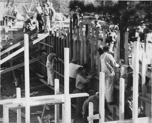 Town Hall construction in late 1946.File photo