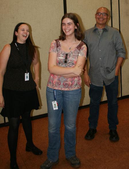 Julie Steiger (left), Bella Hartmann and Eduardo Santiago (right).